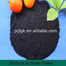 95% Water Soluble Sodium Humate flake fertilizer