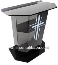 Personalizado de grande porte majestoso acrílico púlpito/púlpito da igreja de projetos
