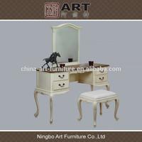Antique living room furniture european design wooden dresser stool