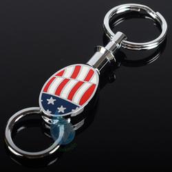 USA flag fashion metal keychain china manufacturing/american flag metal retractable keychain china supplier