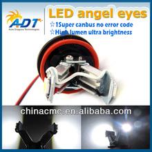 Hot selling E92 H8 12w V-shape led marker angel eyes H8 led light 12v E-mark E4 no error for BMW Coupe Limo Touring Convertible