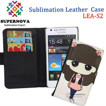 China Wholesale Sublimation Leather Phone Case for Samsung Galaxy S2