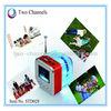 Red LED Mini Digital Portable speaker, Music MP3/4 Player Micro SD/TF USB Disk Speaker With FM Radio