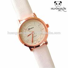 Hot Fashion King Master Elegant Girl Leather Watch