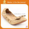 2014 moda pieghevole scarpe nuovo design piatto