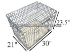 Deluxe Dog Cages in Silver with Metal Tray and Bedding metal