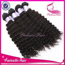 Indian human hair natural color deep wave unprocessed wholesale virgin indian hair