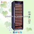 Srw-168s 450l filembedded cadre en aluminium porte bouteille de vin cooler avec serrure