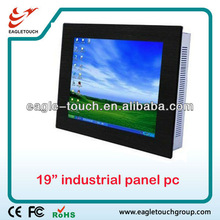 "IPC support window xp and window 7 for 19"" industrial touch screen panel pc"
