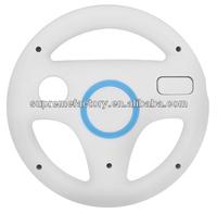For Nintendo Wii U Remote White Steering Wheel Controller Grip