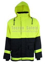 Tecron Safety Modacrylic Flame Resistant AntiStatic Rainjacket / Raincoat / Rainwear / EN11612 EN1149-3 GB8965 EN471