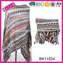 Winter Classic Checks Knitting Buyers For Pashmina Shawl Wholesale
