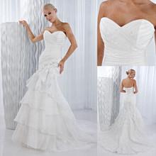 Mermaid wedding dress sleeveless new design forever love bride CXC1542