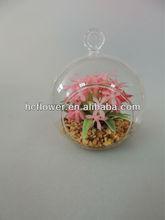 artificial small glass ball flower