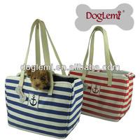 DogLemi fashion anchor sailing dog carrier bag stripe pet dog carrier