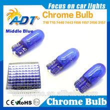 High quality T10 chrome bulb middle blue auto parts car accessories