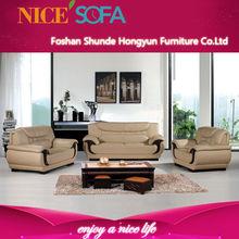 Popular Design modern living room wood Legs leather sofa A689