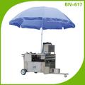 Multi- funcional lanche vending carrinho gás/móvel elétrica comida carrinho com rodas e toldo bn-617
