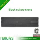 Natural wall decoration cladding black culture stone slate