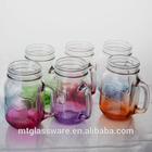 12oz 22oz 33oz colorful glass buy mason jar with handles and lids and straws
