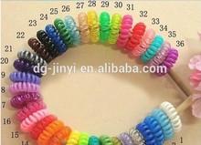 mini colorful telephone wire cord hair band