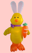 7ft inflatable standing chick with carrot