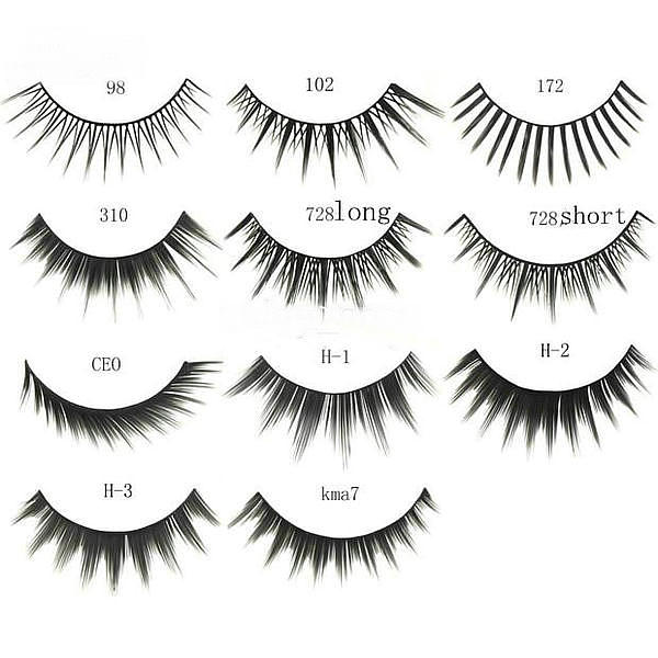 Human Hair False Eyelashes Wholesale 87