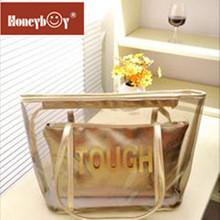 Manufacture fashion cool transparents PVC handbag