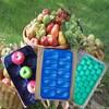 Cheap 39x59cm Supermarket Fruit Black Plastic Serving Tray