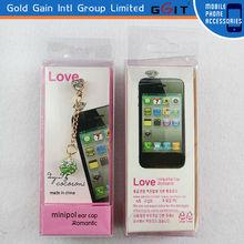 Promotional wholesale green diamond earphone anti dust plug