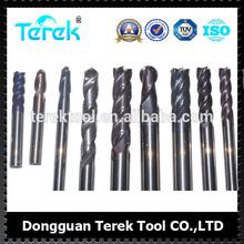 Terek CNC Tungsten Cutting tools 2/4/6 Flutes Carbide Flat Cutting tools