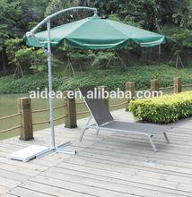 new design cheap aluminum mesh fabric beach sun lounger