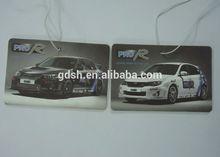 free design customized printing logo car shape air freshener