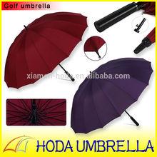 vintage golf umbrella promotion high quality auto open straight golf umbrella