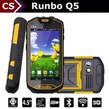 "Runbo Q5 PTT 4.5"" Gorilla 2GB RAM/32GB ROM 13.0MP Camera MTK6589T Quad Core tough military mobile phone"