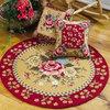Custom design Handmade Carving Pile Modern Round Rug and Carpet