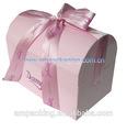 Luxe recyclé grand carton boîte de cercueil avec bandoulière pour bijoux emballage
