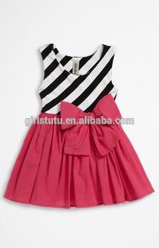 Butik kız çocuk kolsuz pamuklu rahat kabarık elbise fantezi şerit