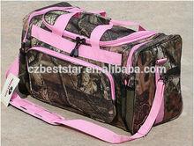 Camo Tactical Bag Range Gun Pistol Case With Pink Trim