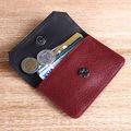rojo y negro de cuero de vaca genuina de viaje hodler tarjeta de tarjeta de cajero automático cartera 2014 newst artículo