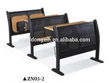 hot sale and elegant college desk and chair school furniture,simple teenage desks furniture ZN01-2