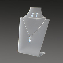 2014 high quality acrylic necklace display card holder customized