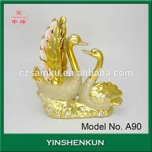 de la boda nuevo hogar decoración de cerámica decorativa cisnes