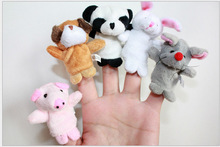 little finger Soft Puppy snack and tiger puppet toys
