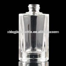 custom made forme triangle prisme à vis en verre bouteilles de parfum avec pompe 40ml
