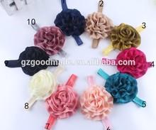 Sew folds chiffon baby flower headband flower hair ribbon pearl WITH diamond combination kid headband