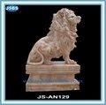 โบราณขนาดใหญ่ตกแต่งกลางแจ้งนั่งรูปปั้นสิงโตสำหรับการขาย