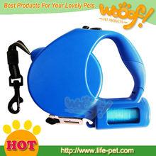 Wholesale retractable dog leash with waste bag dispenser