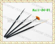 4 Pcs Pro Premium Quality Kolinsky Hair Nail Brush Set Nail Art Brush Set Gel Design Painting Pen Polish Brushes Set Salon DIY