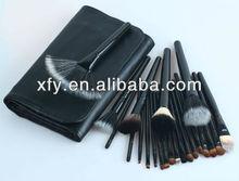 Goat Hair & Nylon Black color 22 pcs cosmetic brush set